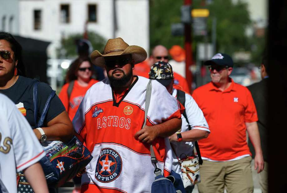 PHOTOS: A look at Astros fans around Minute Maid Park before Friday's Game 1
