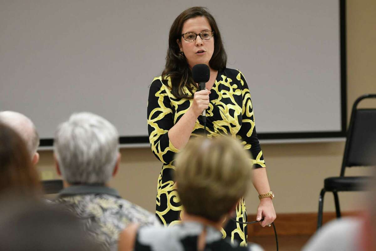 Congresswoman Elise Stefanik speaks to the Upstate Conservative Coalition at the Milton Community Center on Tuesday, Sept. 18, 2018 in Ballston Spa, N.Y. (Lori Van Buren/Times Union)