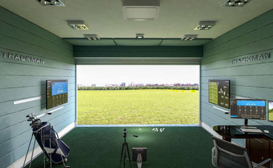 One of Golf Lounge 18's teaching bays at Fairfield's Sportsplex. Photo: Westfair Communications