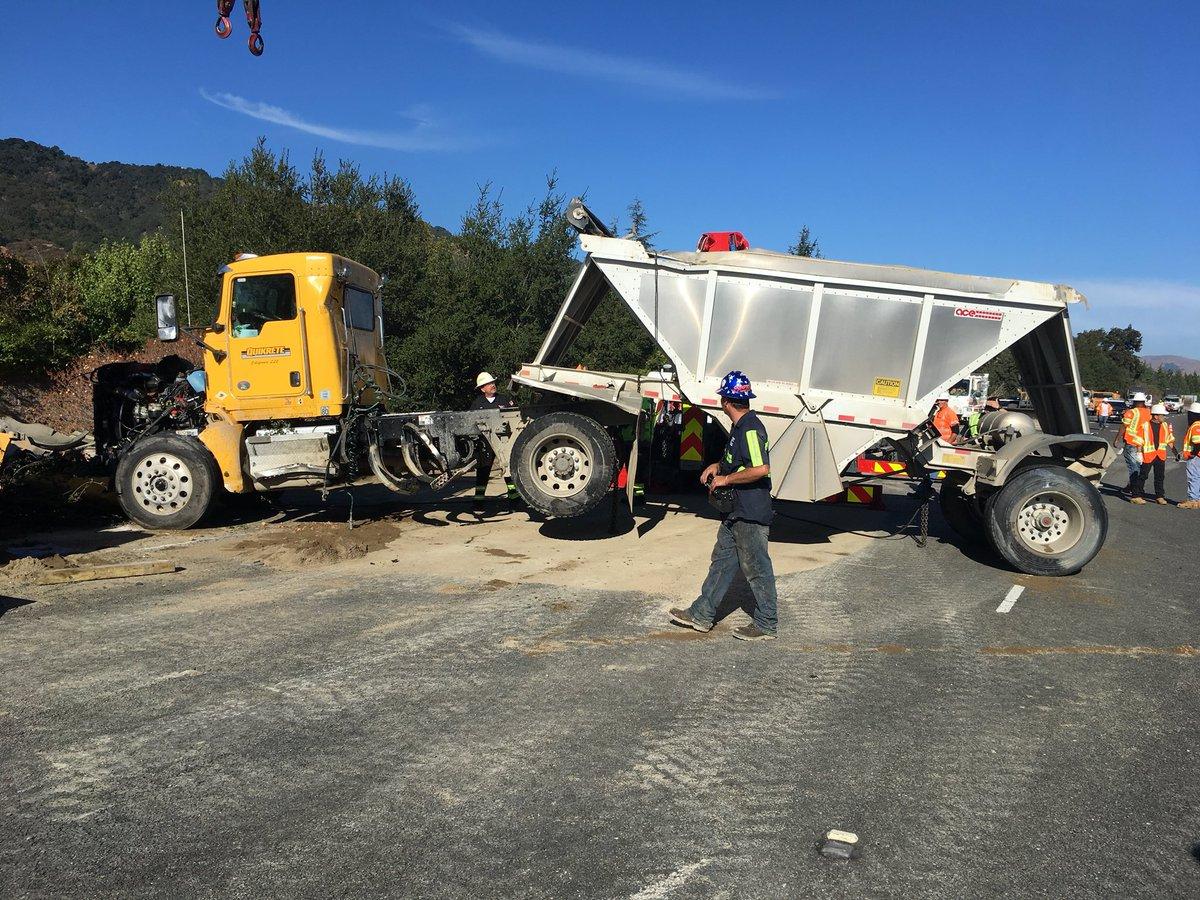 27 tons of dirt spill onto I-680 after crash, severe traffic