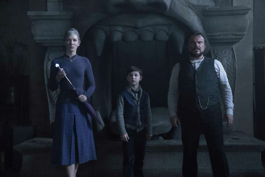 "This image released by Universal Pictures shows Cate Blanchett, left, Owen Vaccaro and Jack Black in a scene from ""The House With A Clock in Its Walls."" Photo: Quantrell Colbert / Associated Press / © Storyteller Distribution Co., LLC"