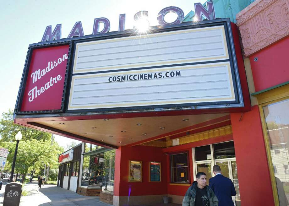Marquee of the the old Madison Theater on Friday, Oct. 5, 2018 in Albany, N.Y. The theater was slated to reopen July 4 as the Cosmic Cinema, but construction is nowhere near completion. (Lori Van Buren/Times Union) Photo: Lori Van Buren, Albany Times Union / 20045045A