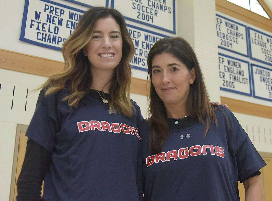 Ciara Thurlow, left, is the new head coach of girls' lacrosse at Greens Farms Academy. Halley Quillan Griggs, right, is the associate head coach. Photo: Contributed Photo /