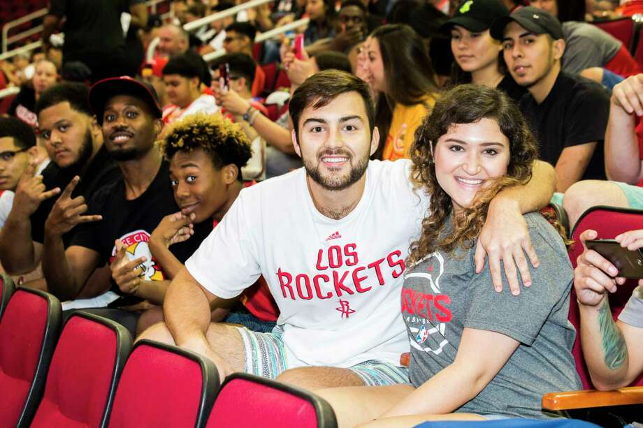 PHOTOS: Rockets fans at Friday's open practice Houston Rockets fan attend the Fan Fest & Open Practice, Friday, Oct. 5, 2018, in Houston. Browse through the photos above for a look at Rockets fans at the open practice ... Photo: Marie D. De Jesús, Staff Photographer / © 2018 Houston Chronicle