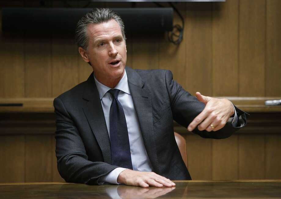 "Gavin Newsom said his views have been ""hardened by the reality"" of having served as mayor. Photo: Russell Yip / The Chronicle"