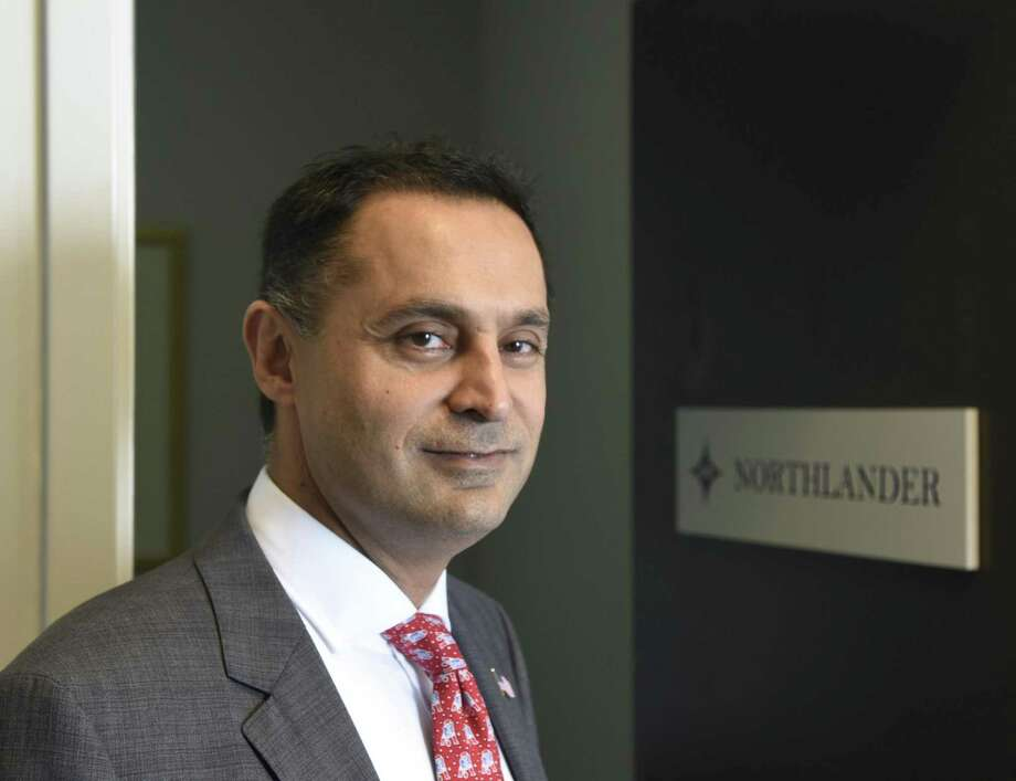 Harry Arora, Republican Congressional candidate challenging Jim Himes for Connecticut's 4th District, poses at his firm's office, Northlander Commodity Advisors, in Greenwich, Conn. Tuesday, Oct. 2, 2018. Arora has made a career in hedge funds and energy trading and his firm's office, Northlander Commodity Advisors, is located in the same building as his campaign office. Photo: Tyler Sizemore / Hearst Connecticut Media / Greenwich Time