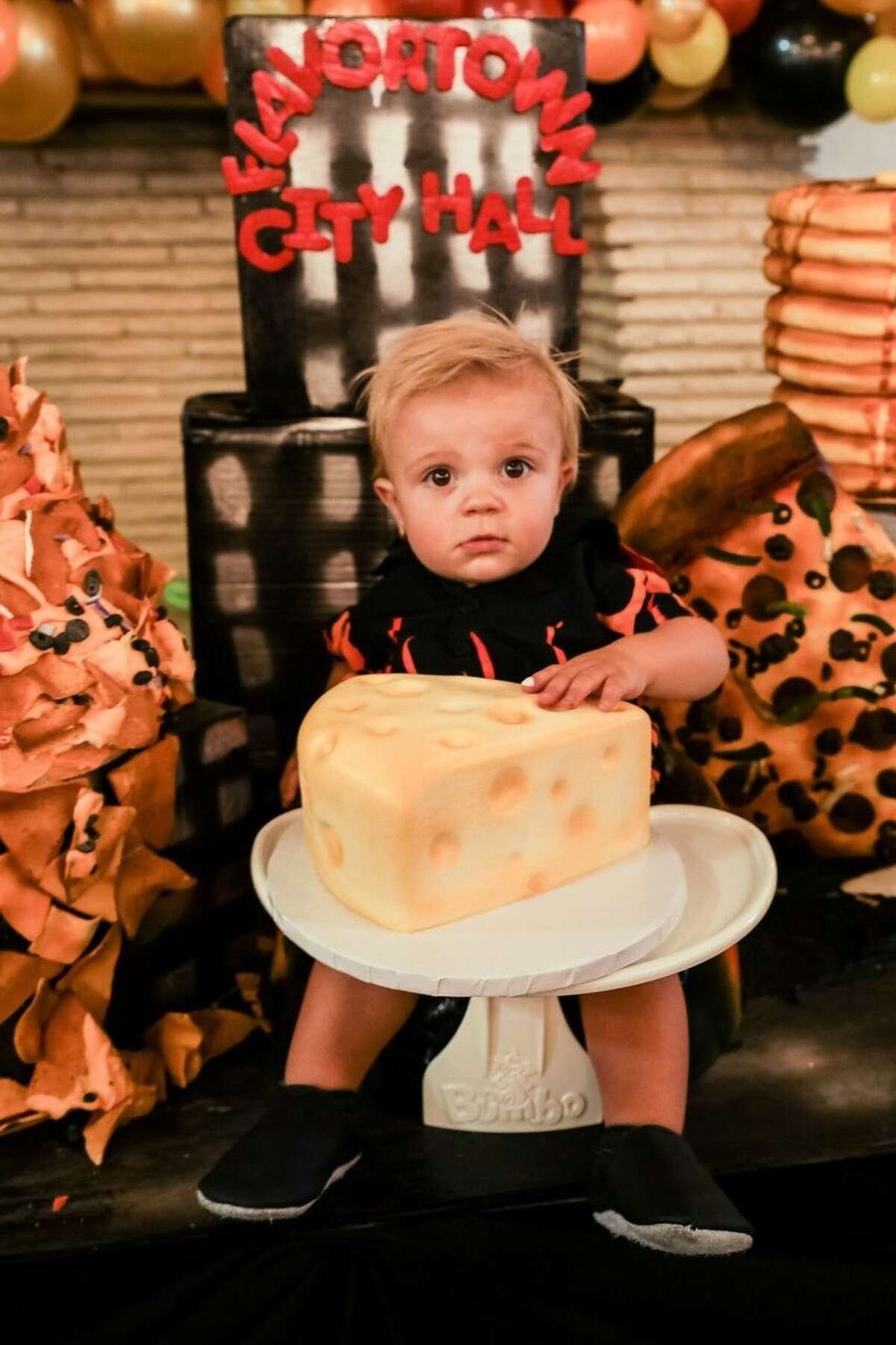 Nataly Stein, a bakery business owner and mother of two in Southern California, threw a Guy Fieri-themed Flavortown first birthday for her son, Campbell.