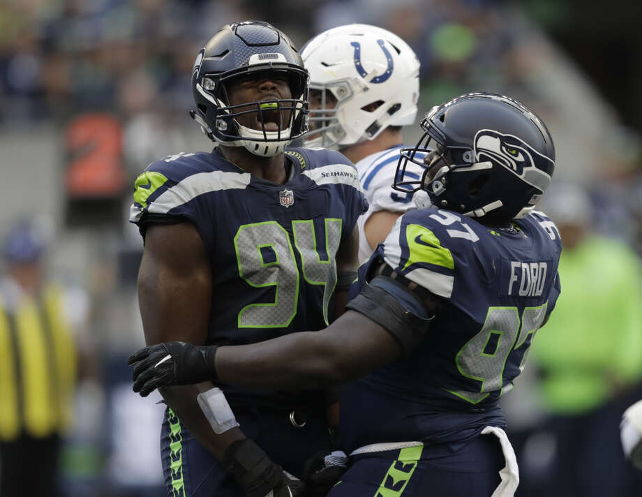 The Seahawks placed third-year defensive end Rasheem Green on Injured Reserve Friday. Photo: Stephen Brashear/Associated Press