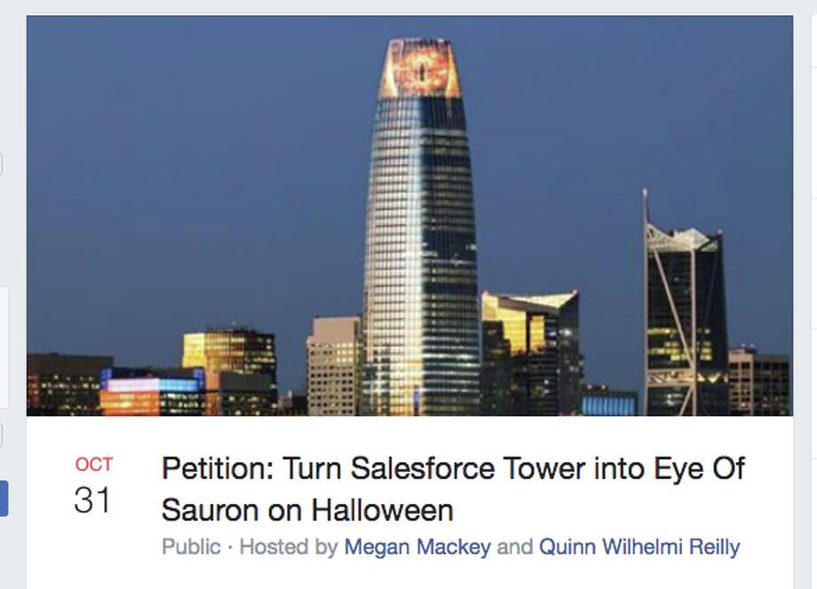 A petition to turn Salesforce Tower into the Eye of Sauron has been getting attention. Photo: Facebook