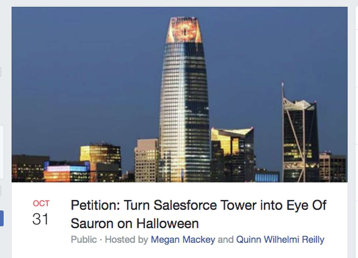 A petition to turn Salesforce Tower into the Eye of Sauron has been getting attention.