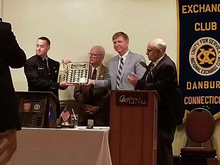 Patrick Heron earned Danbury Exchange Club's Firefighter of the Year for saving his neighbor's life. Photo: / Contributed Photo