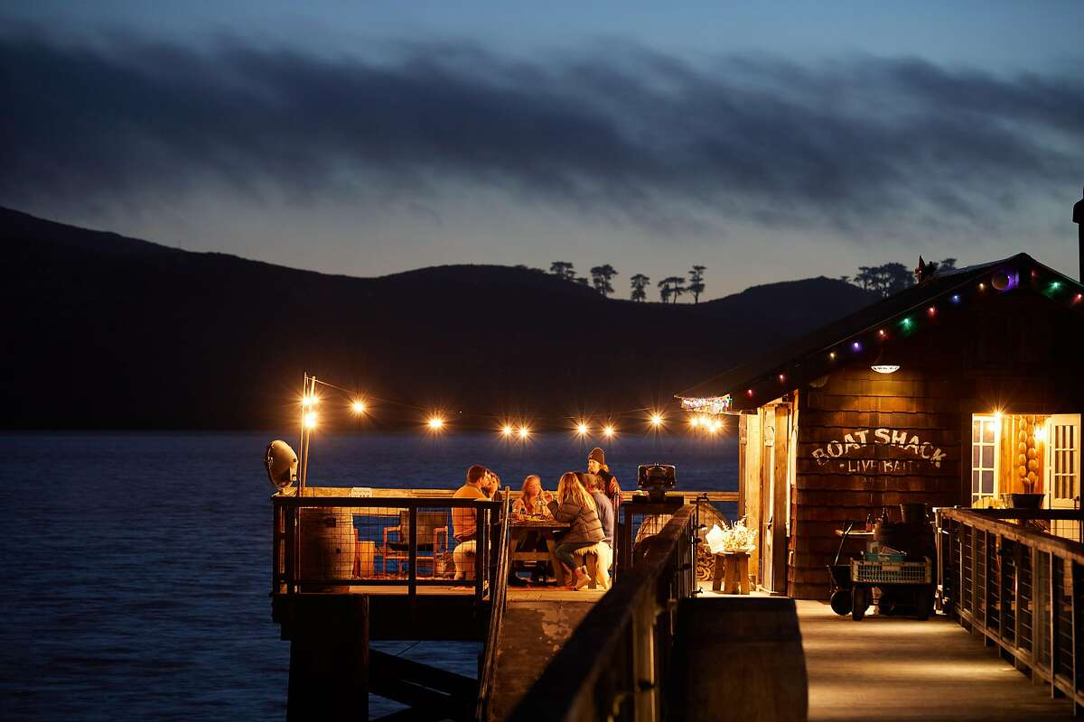 At the Boat Shack at Nick's Cove you can throw back a cocktail overlooking Tomales Bay and bang on the upright piano.