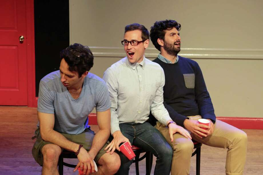 Norwalk native Chris Cafero, center, with his sketch comedy group Uncle Function. Photo: Contributed /