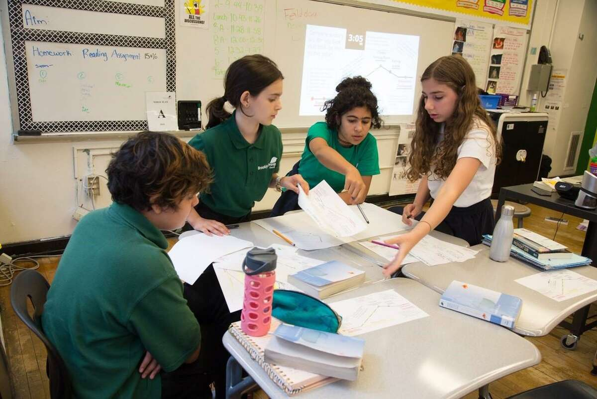 Students study at Brooklyn Prospect Charter Schools, the group behind the Danbury charter proposal that operates four schools in New York City with more than 1,250 students.