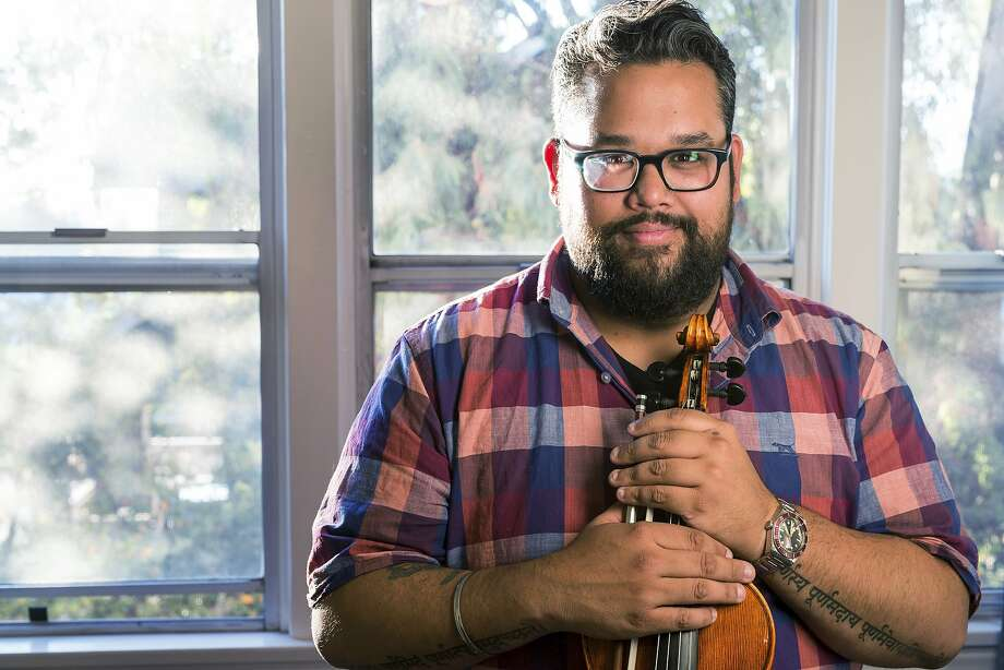 Violinist Vijay Gupta, who recently won a MacArthur fellowship, is giving up his seat in the Los Angeles Philharmonic to develop his nonprofit Street Symphony, which performs for free. Photo: John D. And Catherine T. MacArthur Foundation