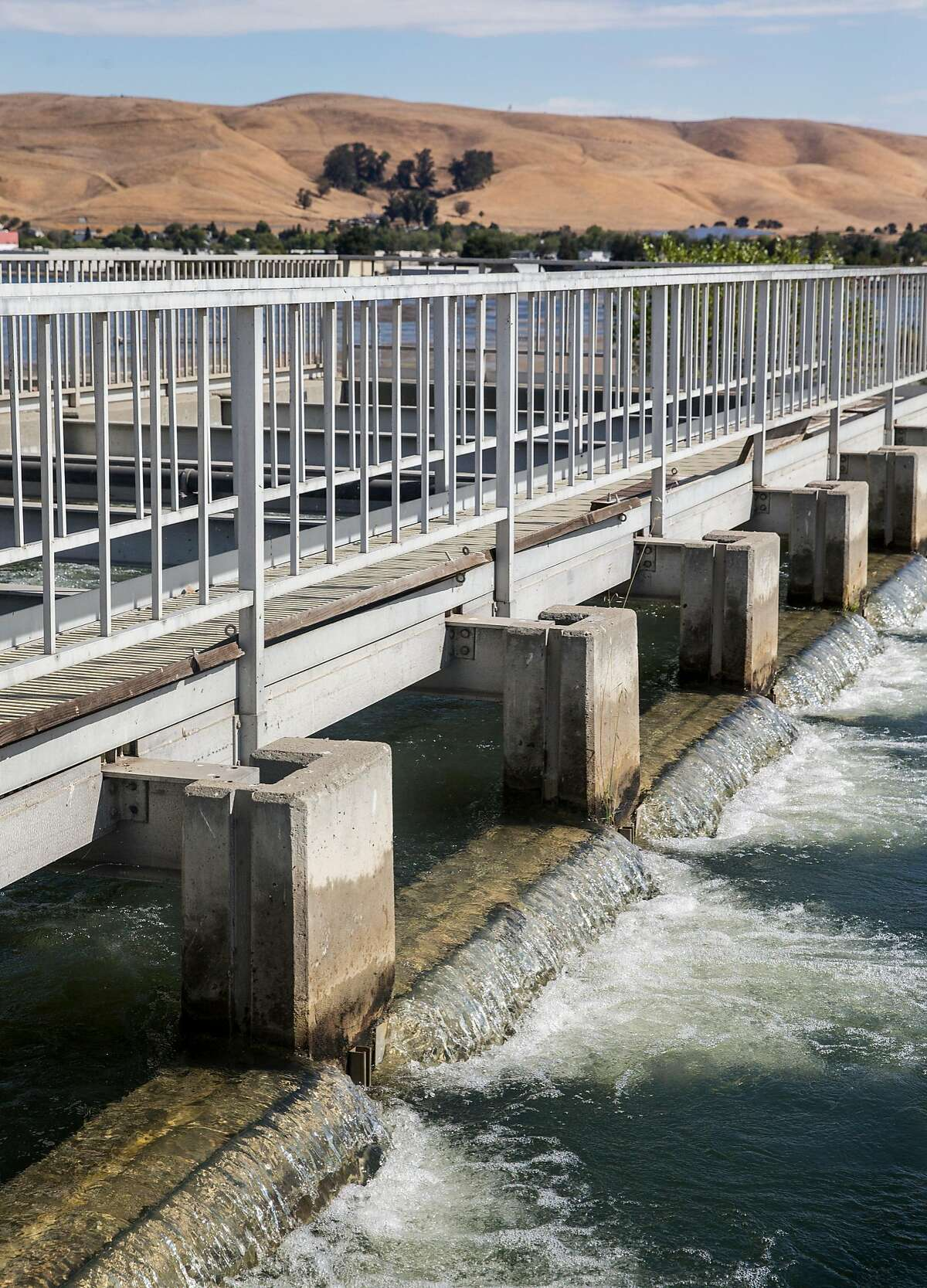 Water from the nearby Mallard Reservoir moves through the treatment process at the Contra Costa County Water District's Ralph D. Bollman Water Treatment Plant in Concord, Calif. Wednesday, Oct. 3, 2018.
