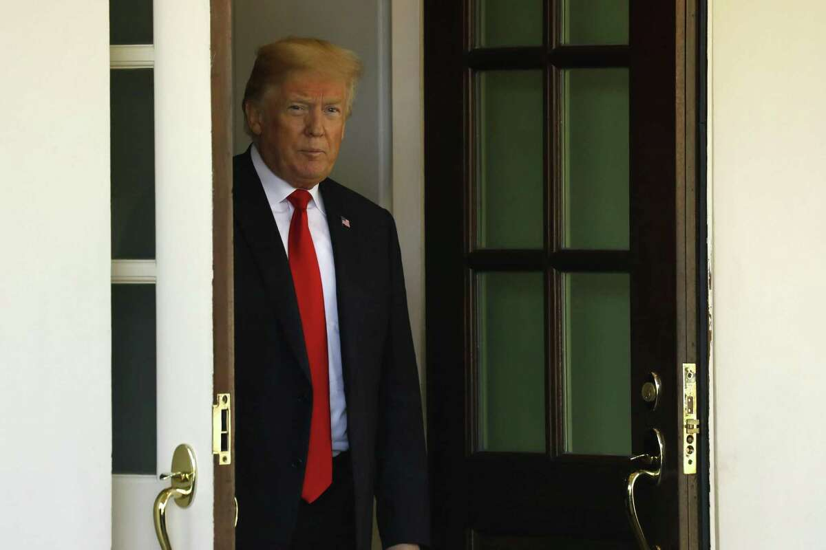 President Donald Trump after his meeting with Chilean President Sebastian Pinera at the White House in Washington, D.C., on Friday, Sept. 28, 2018.
