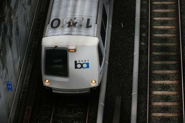 An eastbound BART train travels at top speed in Lafayette, Calif. on Thursday, Jan. 4, 2018. BART was fully operational after inspecting the tracks systemwide following the magnitude 4.4 earthquake that shook the East Bay at 2:39 this morning.