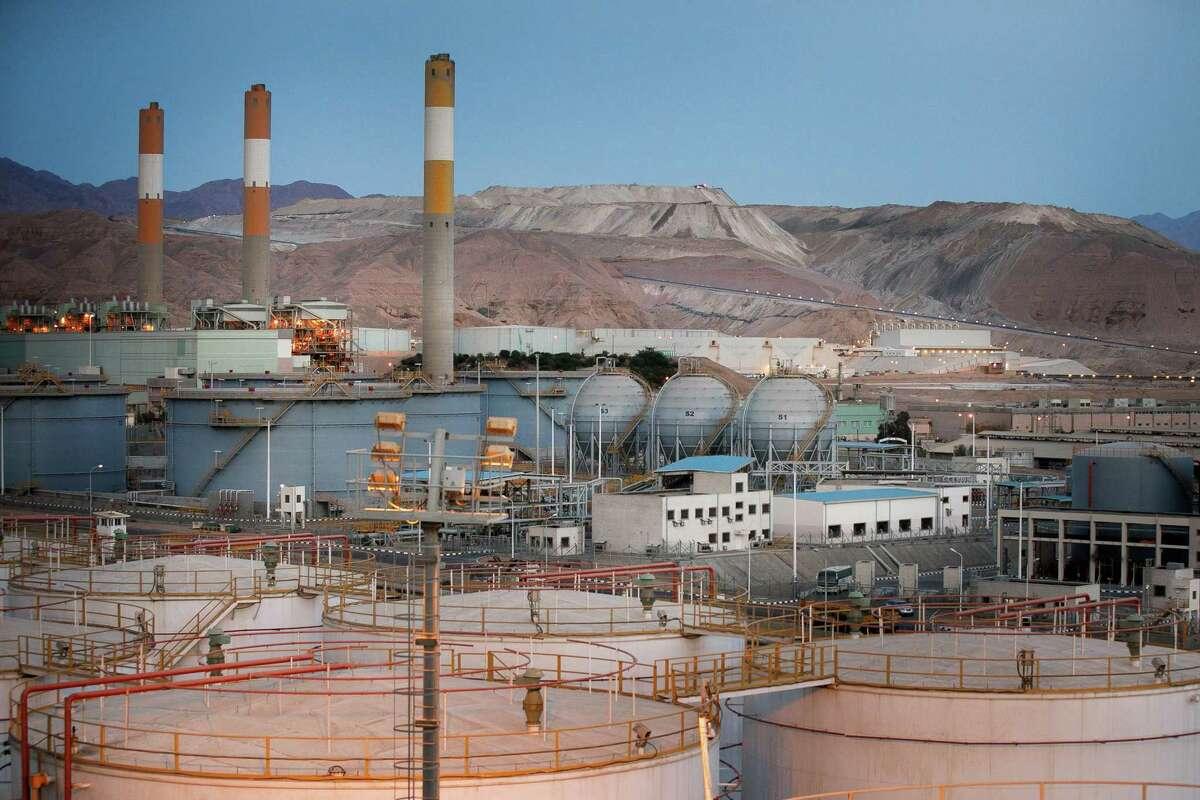 No. 9: Jordan 2018 U.S. LNG export shipments: 11 Photo: Storage sphere tanks, center, for liquefied natural gas (LNG) sit near oil storage tanks, below, in the Jordan Oil Terminal, in Aqaba, Jordan, on April 11, 2018.