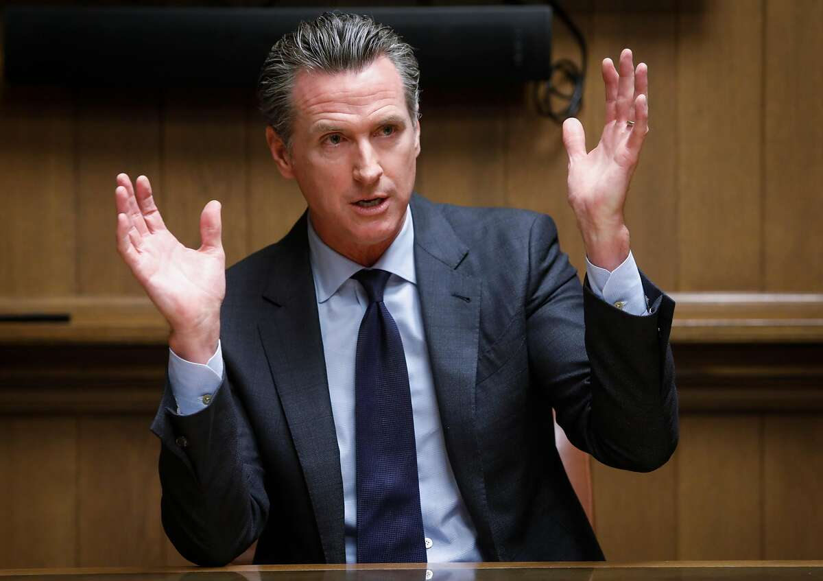 California Lieutenant Governor Gavin Newsom who is running for Governor addresses the San Francisco Chronicle Editorial Board on Tuesday, Oct. 2, 2018 in San Francisco, Calif.
