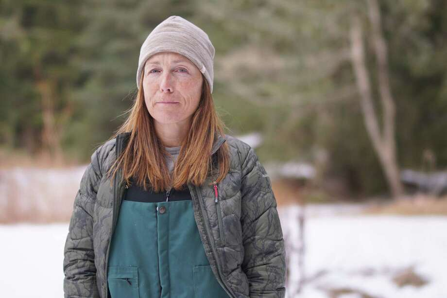 Haines, AK - Dr. Michelle Oakley prepares to treat mustang horses at Wooten Farm. (Lucky Dog Films/Miranda Langevin) Photo: Miranda Langevin / Lucky Dog Films