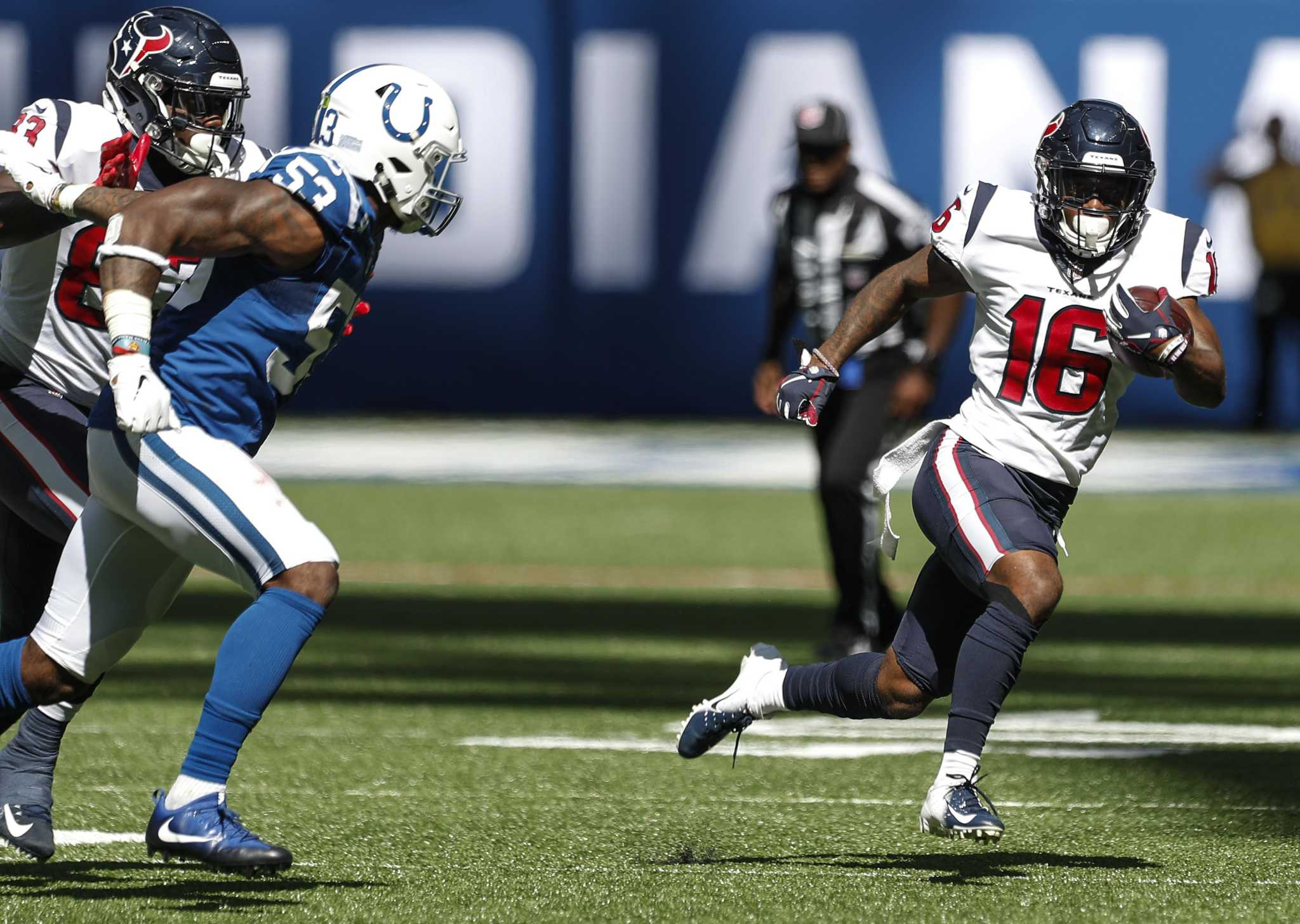 Texans undefeated since Keke Coutee returned