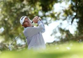 NAPA, CA - OCTOBER 05:  Fred Couples plays his shot from the 11th tee during the second round of the Safeway Open at the North Course of the Silverado Resort and Spa on October 5, 2018 in Napa, California.  (Photo by Marianna Massey/Getty Images)