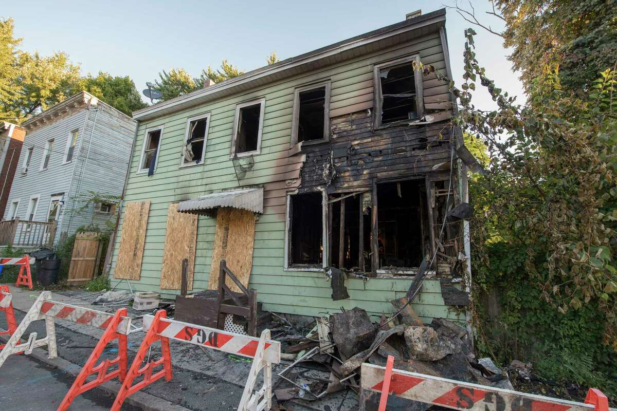 Another serious fire has struck the City as a multi alarm fire destroyed 165 Third Avenue Oct.5, 2018 in Albany, N.Y. (Skip Dickstein/Times Union)