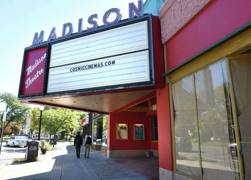 Exterior of the the old Madison Theater on Friday, Oct. 5, 2018 in Albany, N.Y. The theater was slated to reopen July 4 as the Cosmic Cinema, but construction is nowhere near completion. (Lori Van Buren/Times Union)