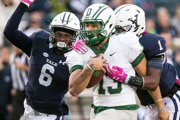 (John Vanacore/For Hearst Connecticut Media) The Yale Bulldogs hosted the Big Green of Dartmouth under the lights at Yale Bowl Friday, October 5, 2018.