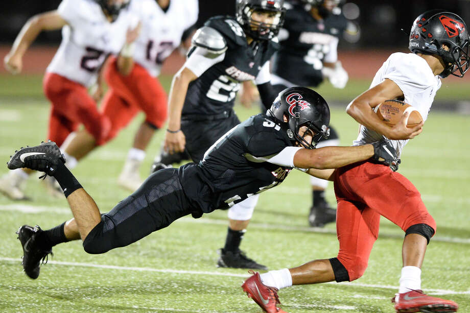 NO. 2 GARDEN CITY AT NO. 8 STERLING CITY When/where: 7:30 p.m., Eagle Stadium, Sterling CityRecords: Garden City 9-0, 3-0 in District 8-1A Division I; Sterling City 8-0, 3-0  Photo: James Durbin / ? 2018 Midland Reporter-Telegram. All Rights Reserved.