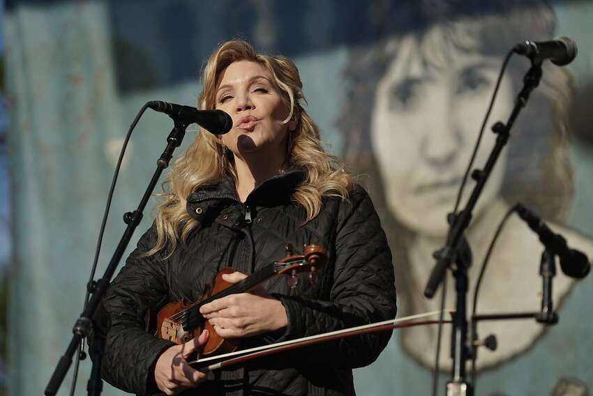 Alison Krauss performs at Hardly Strictly Bluegrass in San Francisco, Calif. on Friday, Oct. 5, 2018