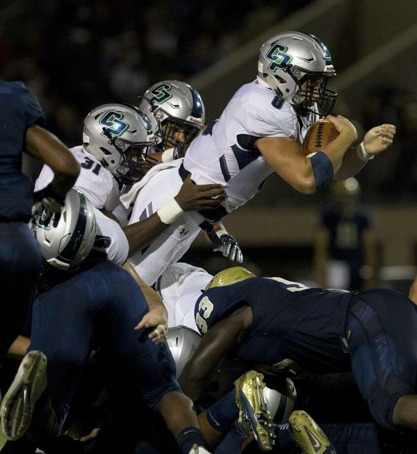 College Park quarterback Jake Hunnicutt (8), shown here last week against Klein Collins, had a 1-yard touchdown Friday night against Klein Forest. Photo: Jason Fochtman, Houston Chronicle / Staff Photographer / © 2018 Houston Chronicle