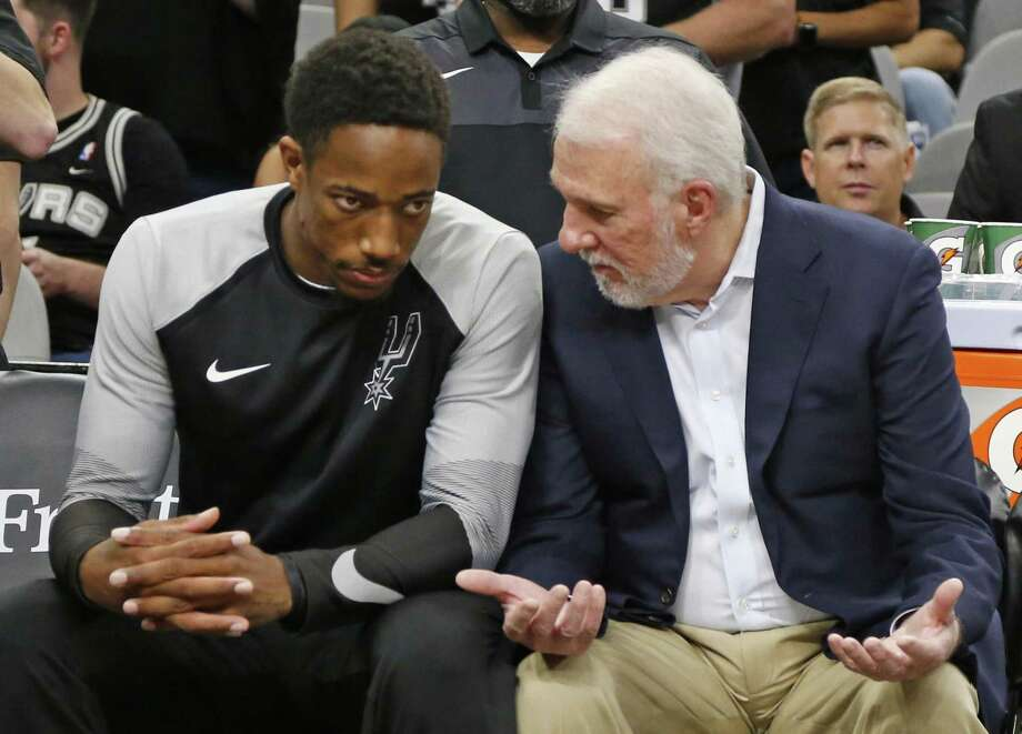 DeMar DeRozan's solid play so far this season has managed to make believers out of coach Gregg Popovich and the Spurs faithful. Photo: Ronald Cortes / Correspondent / 2018 Ronald Cortes
