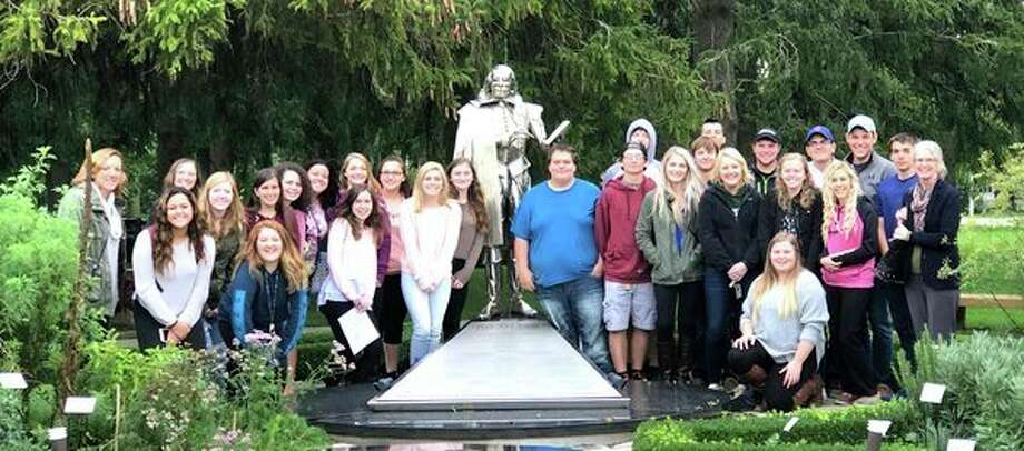 Caseville students recently traveled to Stratford, Ontario, to see a production of William Shakespeare's Julius Caesar. The classes were studying the play, so seeing it performed live by professional actors was a rewarding experience. The students also enjoyed exploring the town of Stratford before the performance. The trip was made possible through generous donations from the Caseville Arts Council and the Caseville Boosters Club. (Submitted Photo)
