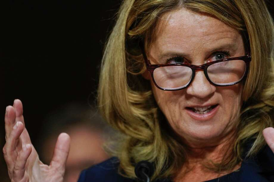 Dr. Christine Blasey Ford at a Senate Judiciary Committee hearing Sept. 27. Photo: Getty Images / 2018 Getty Images