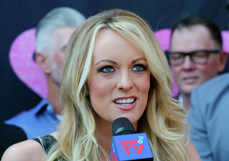 FILE - In this May 23, 2018 file photo Stormy Daniels, speaks during a ceremony for her receiving a City Proclamation and Key to the City in West Hollywood, Calif.  Photo: Ringo H.W. Chiu, AP / FR170512 AP