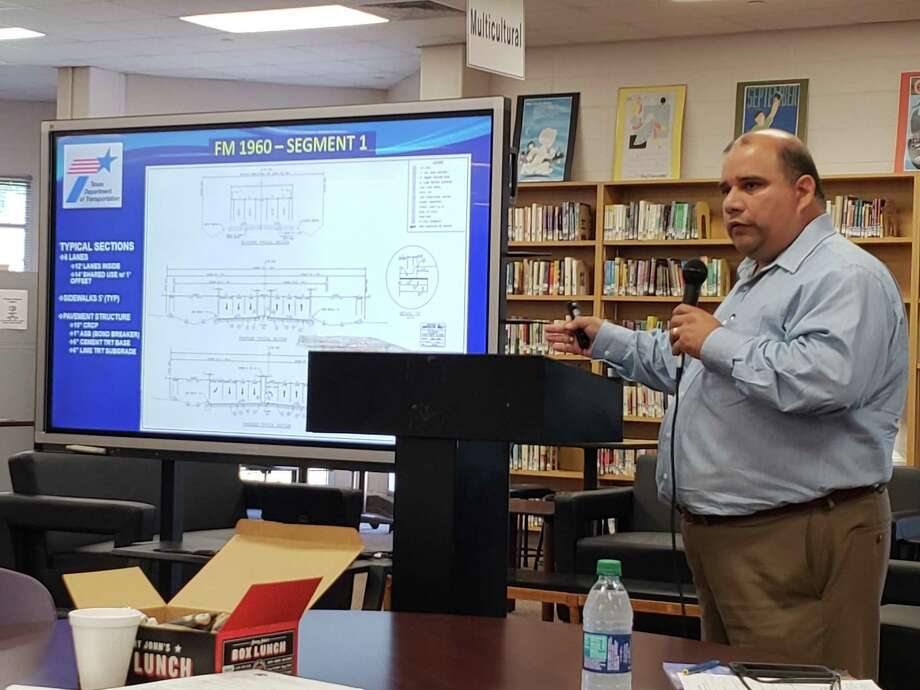 PHOTOS: TxDot projects with no deadlineEntech Civil Engineers Chief Information Officer Chris Orosco explains the process of  the FM 1960 widening project on Oct. 4, 2018 at the Humble Biz Com in Humble High School.>>>See photos of other Houston area TxDOT projects with no specific end date in sight... Photo: Kaila Contreras