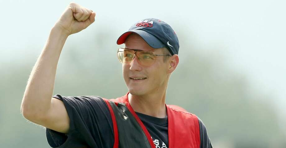 BEIJING - AUGUST 12:  Glenn Eller of the United States celebrates winning the gold medal in the men's double trap held at the Beijing Shooting Range Hall during Day 4 of the Beijing 2008 Olympic Games on August 12, 2008 in Beijing, China.  (Photo by Nick Laham/Getty Images) Photo: Nick Laham/Getty Images