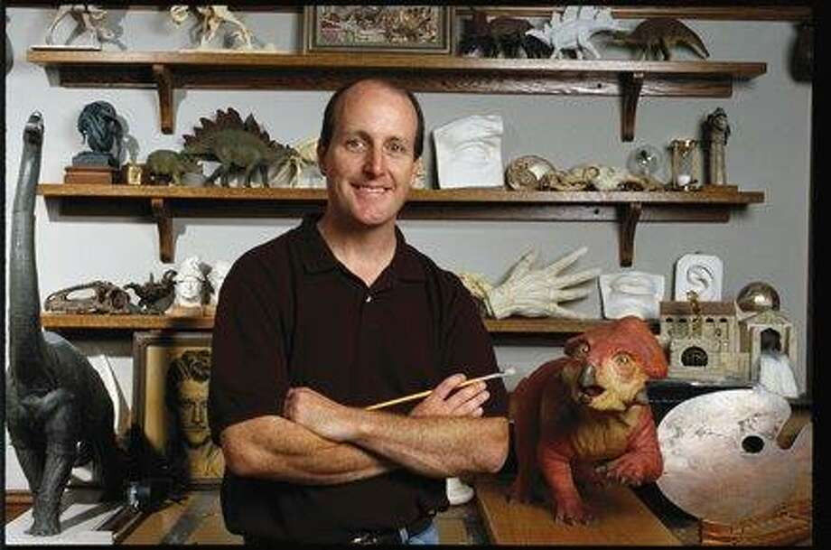 """Dinotopia"" artist James Gurney will present a talk titled ""How I Paint Dinosaurs: Art, Science, and Imagination"" from 6:30 to 8 p.m. Tuesday at the Bruce Museum. Gurney will discuss how he translates a scientist's understanding of an extinct creature into a realistic painting. He will also chronicle the creative development that led to the fantasy universe of ""Dinotopia,"" where humans and dinosaurs live in peaceful interdependence. After the lecture, he will be available for a book signing. The museum will open at 6:20 p.m., with a reception at 6:30, and the talk at 7. Register at BruceMuseum.org. Free for members and students with ID; nonmembers $15. Photo: Contributed Photo / Contributed Photo / Connecticut Post Contributed"