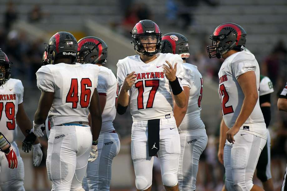FILE PHOTO — Porter senior quarterback Zane Russell (17) threw for 501 yards and three touchdowns against Houston Austin on Friday night. Photo: Jerry Baker, Houston Chronicle / Contributor / Houston Chronicle