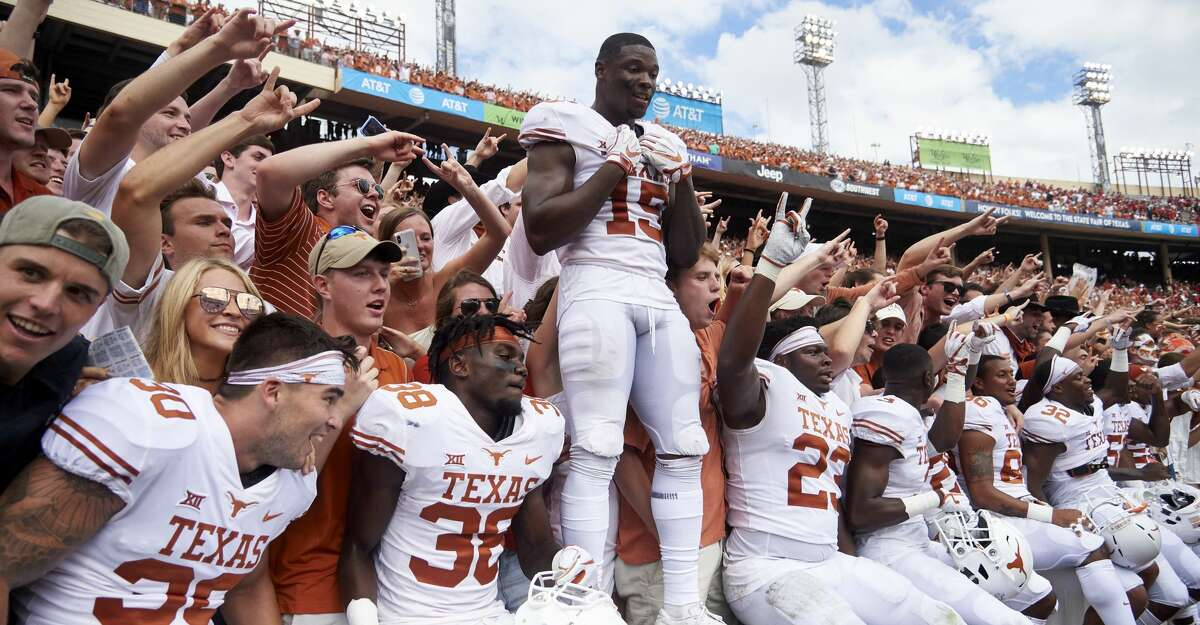 Texas appears to have the inside track to a berth in the Big 12 championship game after Saturday's win over Oklahoma.