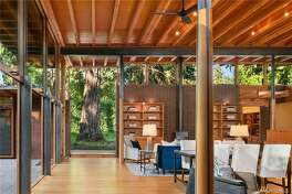 This beautiful custom home was built by the same architect that designed Bill Gates' home, for sale now in Beaux Arts Village for $5.388M