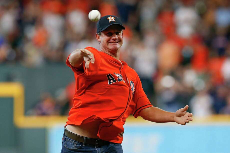 HOUSTON, TX - OCTOBER 06:  Former Houston Astros pitcher Roy Oswalt throws out the first pitch prior to Game Two of the American League Division Series between the Houston Astros and the Cleveland Indians at Minute Maid Park on October 6, 2018 in Houston, Texas. Photo: Tim Warner, Getty Images / 2018 Getty Images
