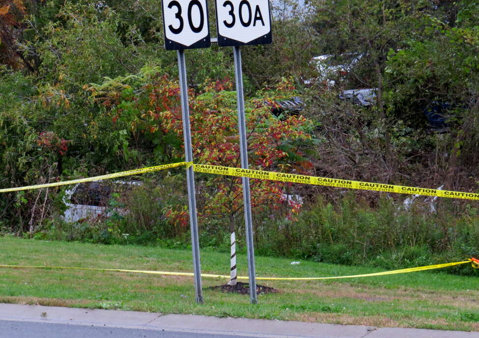 Police respond to a fatal crash on Route 30 and 30 A in Central Bridge on Oct. 6, 2018.