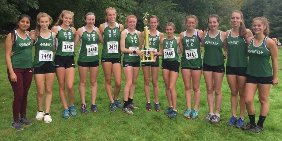 The New Milford High School girls cross country team following its triumph at the Wickham Invitational at Wickham Park in Manchester Oct. 6, 2018. Photo: Contributed Photo