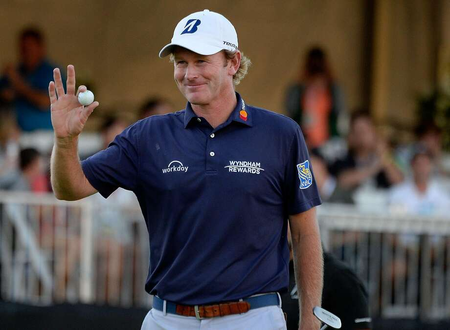NAPA, CA - OCTOBER 06: Brandt Snedeker reacts to his putt on the 18th hole during the third round of the Safeway Open at the North Course of the Silverado Resort and Spaon October 6, 2018 in Napa, California. (Photo by Robert Laberge/Getty Images) Photo: Robert Laberge / Getty Images