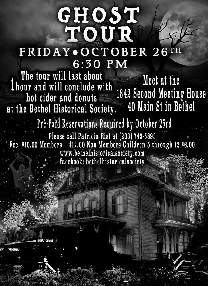 The Bethel Historical Society is hosting its annual Ghost Tour at 6:30 p.m. Oct. 26. Photo: / Contributed Photo