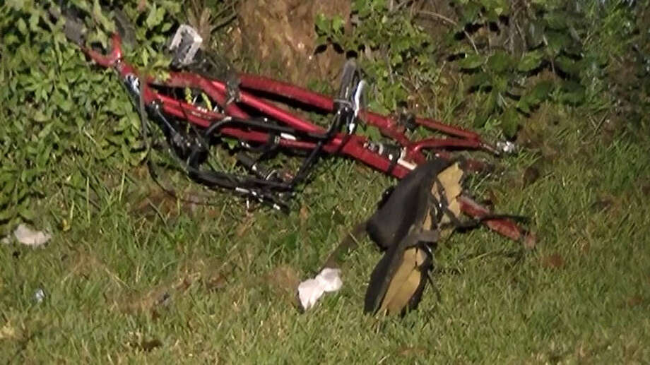 A bicycle rider was run over by a Chevy near Cleveland on Saturday night. Photo: Montgomery County Police Reporter