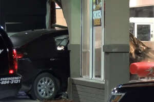 A fleeing driver crashed into a Burger King during a Sunday morning police chase near Sunnyside.